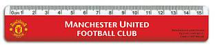 Лінійка пластикова, 15см Manchester United