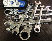 Набор комбинированных трещоточных ключей GEKO с карданом 8-19 мм 6 ед.G10339