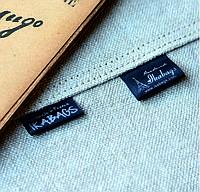 Ярлык пришивной черный сатин 30х50мм