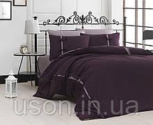 Комплект постельного белья сатин delux first choice евро размер dream style mor