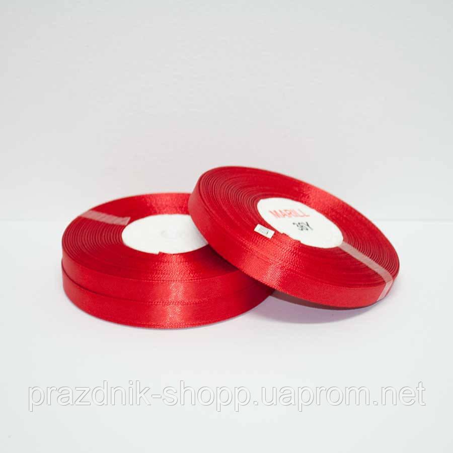Лента атласная 25 мм. красная
