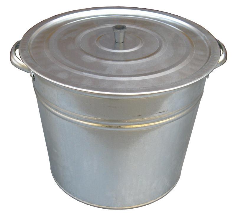 Бак 32 литра оцинкованный с крышкой и решеткой (Метид, Днепропетровск)