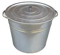 Бак 32 литра оцинкованный с крышкой и решеткой (Метид, Днепропетровск), фото 1