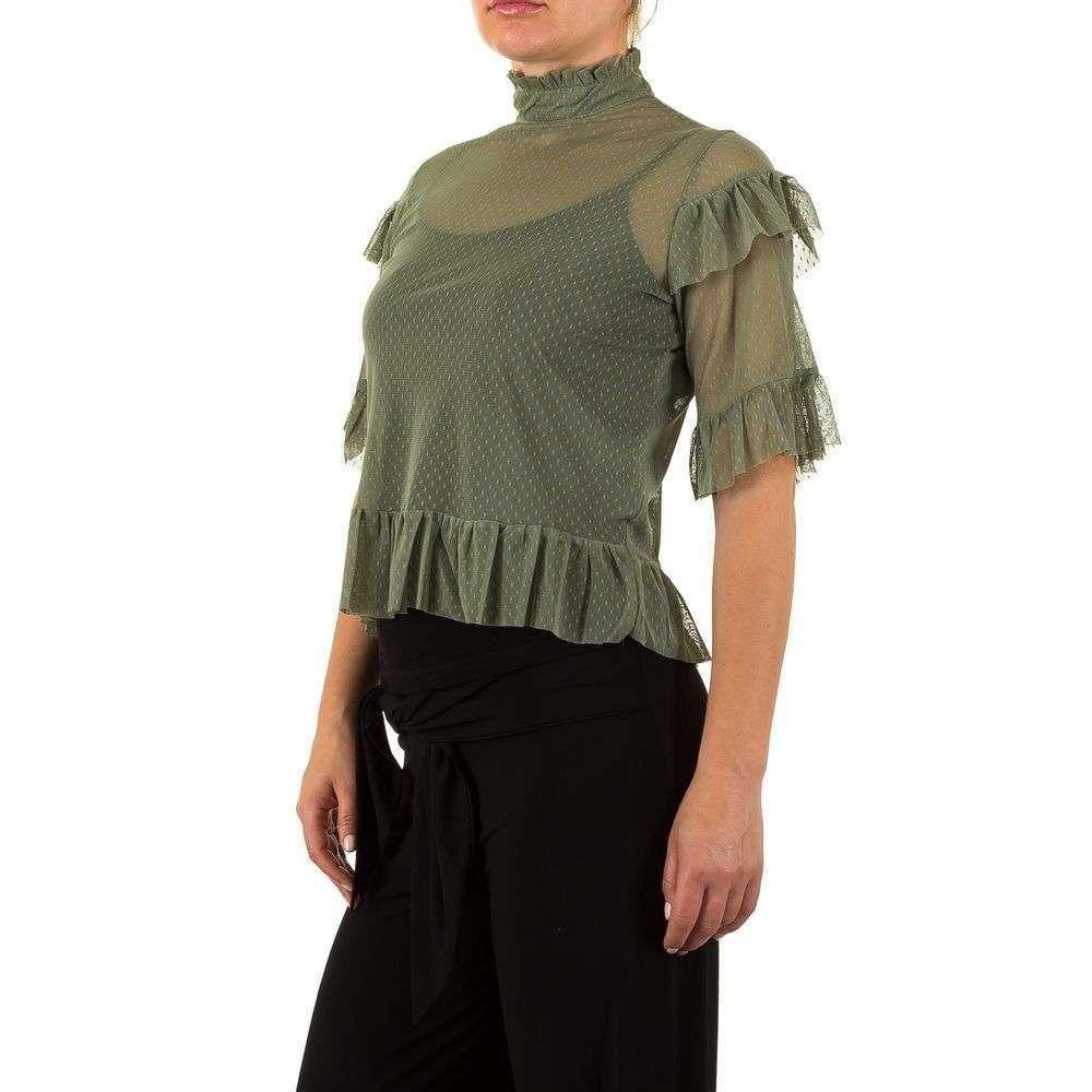 Женская блузка - зеленый - KL-TS803-зеленый