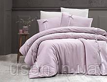 Комплект постельного белья сатин delux first choice евро размер Dream style pudra