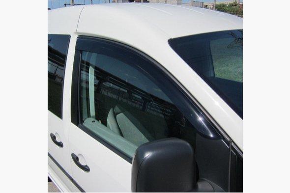 Ветровики (2 шт, DDU) Volkswagen Caddy 2004-2010 гг. / Volkswagen Caddy 2010-2015 гг.