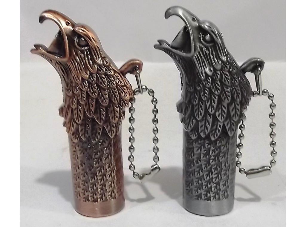 Зажигалка орел-брелок пламя острое
