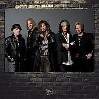 Постер Aerosmith. Размер 60x42см (A2). Глянцевая бумага
