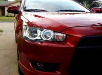 Ангельские глазки ccfl Mitsubishi Lancer X (Белые)