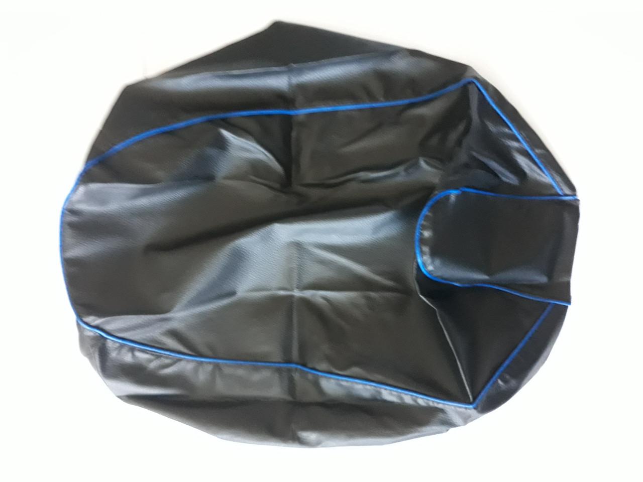 Чехол сиденья HONDA DIO AF-34/35 черный, синий кант JOHN DOE