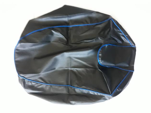 Чехол сиденья HONDA DIO AF-34/35 черный, синий кант JOHN DOE, фото 2