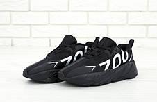 "Мужские кроссовки в стиле Adidas Yeezy 700 ""Numbers"" Black\White, фото 3"