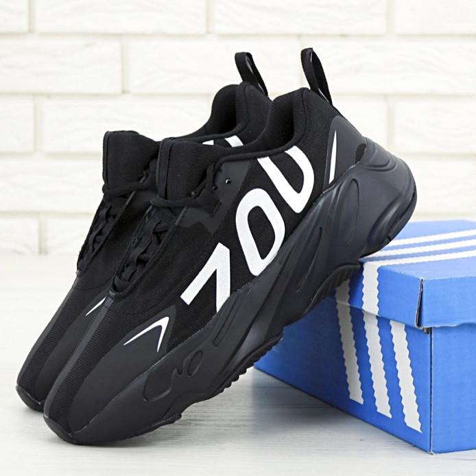 "Мужские кроссовки в стиле Adidas Yeezy 700 ""Numbers"" Black\White"