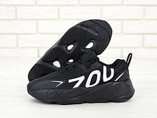 "Мужские кроссовки в стиле Adidas Yeezy 700 ""Numbers"" Black\White, фото 2"