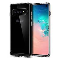 Чехол Spigen для Samsung Galaxy S10 Crystal Hybrid, Crystal Clear (605CS25661), фото 1