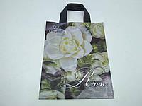"""Пакет ламинированный с петлевой ручкой маленький  """"Белые розы""""(25х30) Рендпако (25 шт)"""