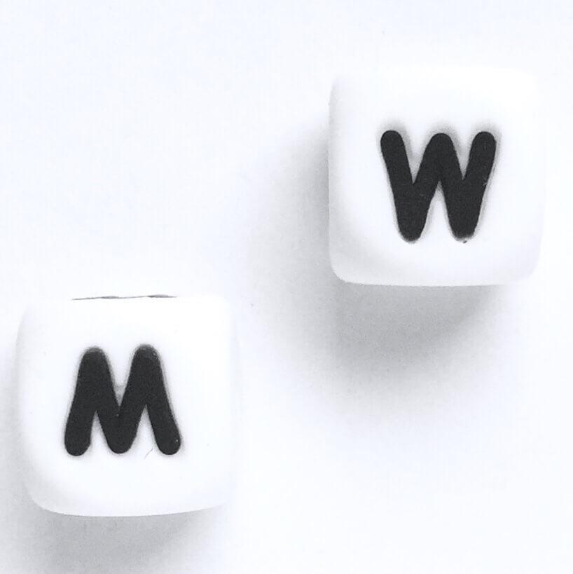 Буква - М (W) (силиконовые бусины)