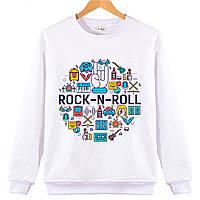 Джемпер  ROCK-N-ROLL  детский белый