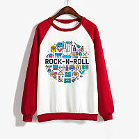 Джемпер  ROCK-N-ROLL  детский красно-белый