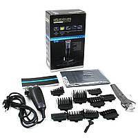 Профессиональная машинка для стрижки волос с титановым ножом Gemei GM836 PROFESSIONAL, сетевая, 220В