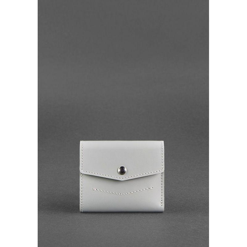 Жіночий шкіряний гаманець 2.1 Сірий