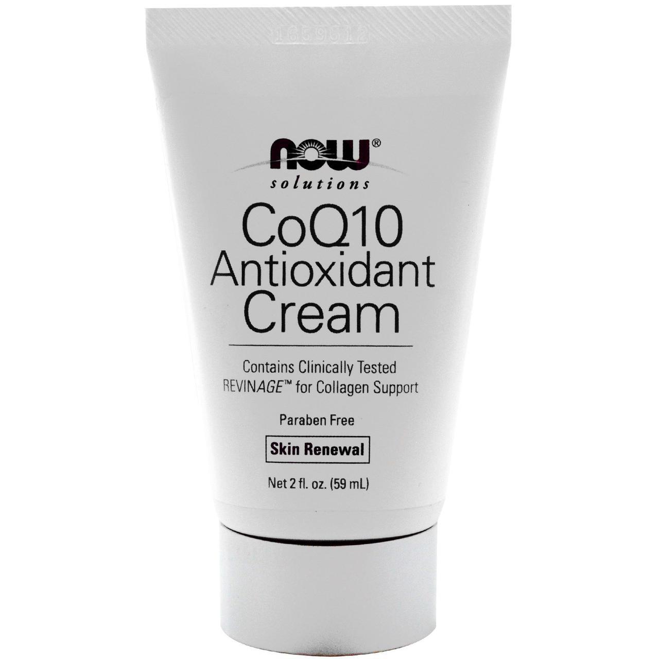 Крем для зрелой кожи с антиоксидантами и коэнзимом Q10, Now Foods, 59 мл