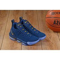 Баскетбольные кроссовки Nike Lebron 16 blue-gold, фото 1
