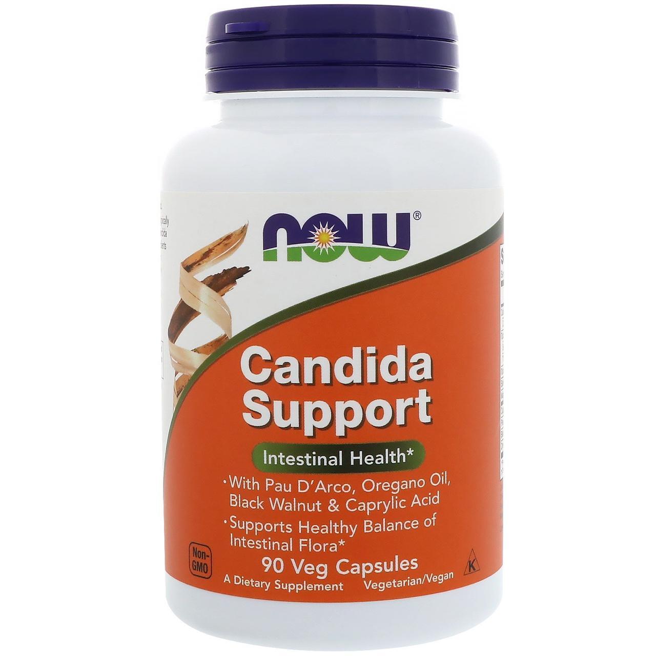 Противокандидное средство, Candida Support, Now Foods, 90 капсул