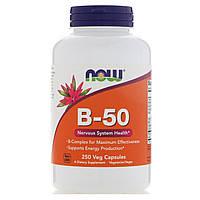 Комплекс витаминов В-50, 50 мг, Now Foods,  250 Капсул, фото 1