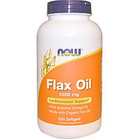 Льняное масло (Омега-3), Flax Oil, Now Foods, 250 капсул