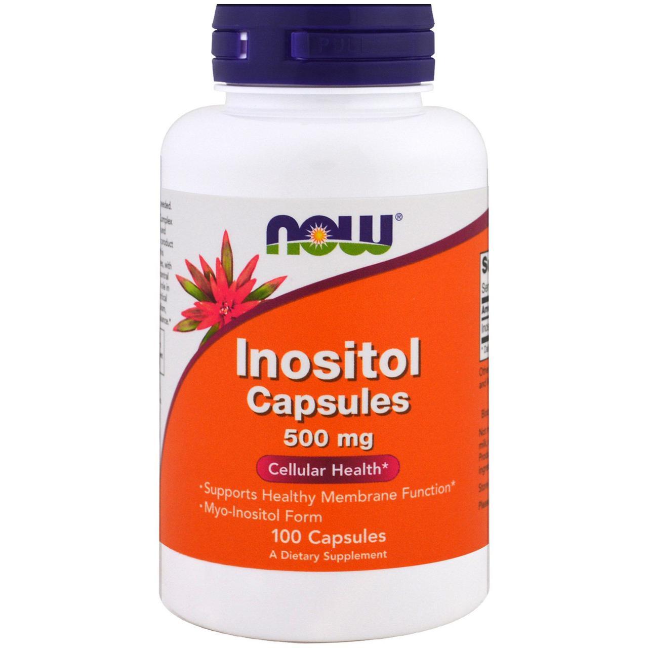 Инозитол, Now Foods, 500 мг, 100 капсул