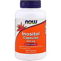 Инозитол, Now Foods, 500 мг, 100 капсул, фото 1