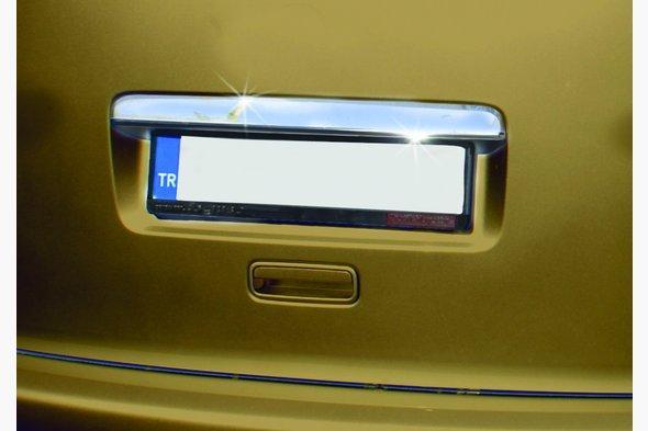 Накладка над номером (1 дверн, нерж) Volkswagen Caddy 2010-2015 гг.