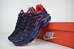 Мужские кроссовки Nike TN Plus, синие с красным, фото 2