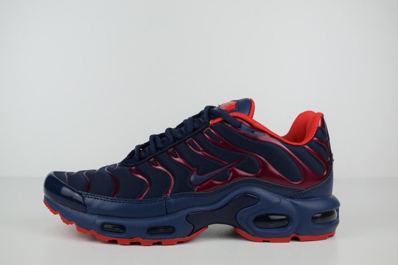 Мужские кроссовки Nike TN Plus, синие с красным