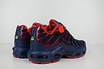 Мужские кроссовки Nike TN Plus, синие с красным, фото 6