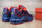 Мужские кроссовки Nike TN Plus, синие с красным, фото 8