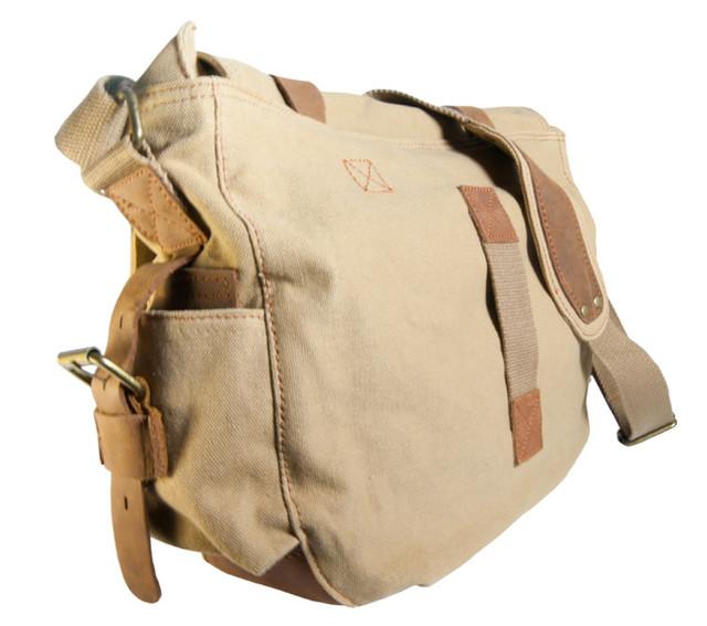 Мужская сумка Augur бежевая вид сзади
