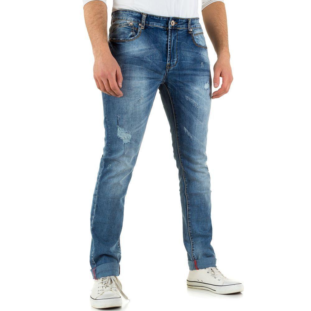 Мужские джинсы с рваным эффектом Black Ace (Европа), Синий