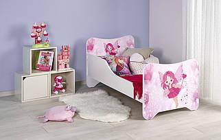 Кровать детская с матрасом Happy Fairy Halmar Розовая фея