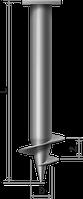 Винтовые сваи диаметром 89 мм  с лопастью 250мм длиной 2м