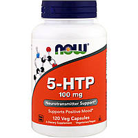5-HTP, Now Foods, 100 мг, 120 капсул, фото 1