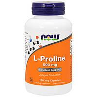 L-Пролин, Now Foods, 500 мг, 120 капсул, фото 1