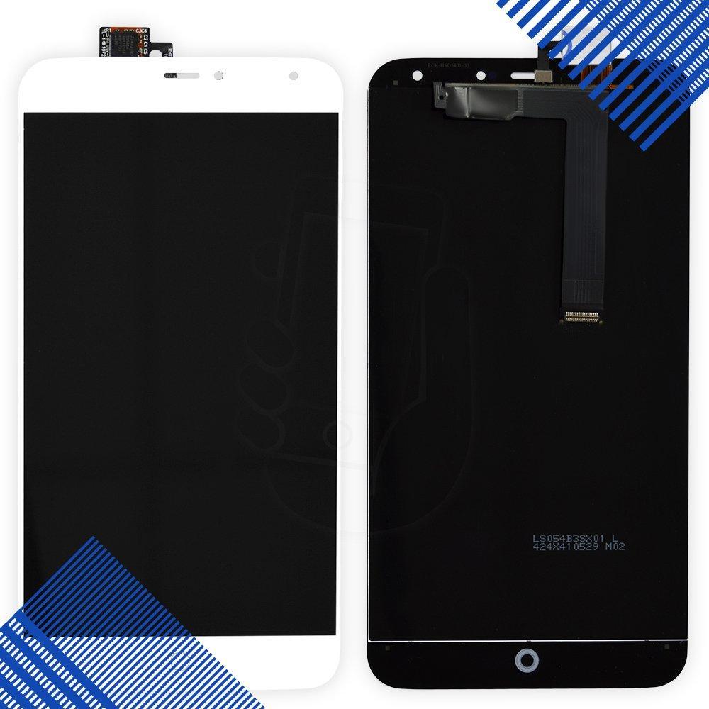 Дисплей Meizu MX4 с тачскрином в сборе, диагональ 5.3, цвет белый