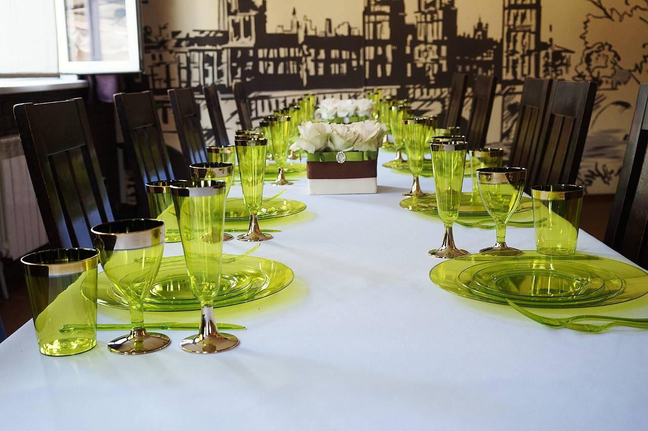 Столовый сервиз обеденный стекловидный для мероприятий дач «Классико» CFP 84 шт/6 персон