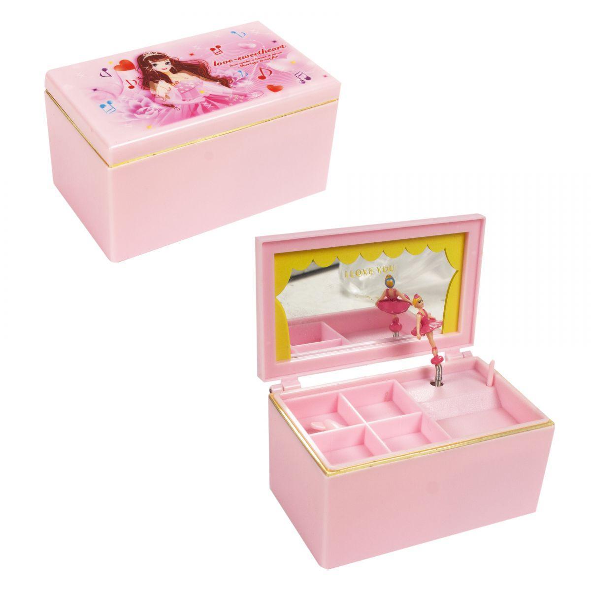 Детская Шкатулка музыкальная с зеркалом и балериной Принцесса, 6010/6014