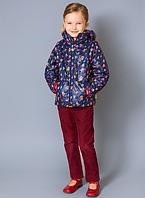 f110e3488e5 Стильная детская куртка- жилетка с капюшоном для девочки Цветы