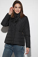 Черная демисезонная куртка женская, фото 1