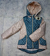 Демисезонная куртка-жилетка для девочки, фото 1