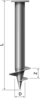 Винтовые сваи диаметром 102мм с лопастью 250мм длиной 1м